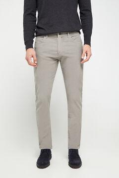 Cortefiel Slim fit corduroy jeans  Gray