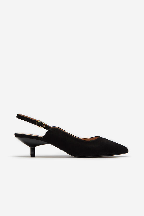 123bcc49eac28 Cortefiel Slingbacks with block heels Black