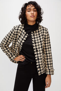Cortefiel Tweed jacket Ecru