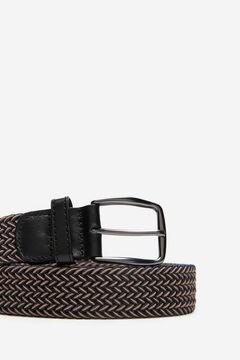 Cortefiel Woven fabric belt Navy