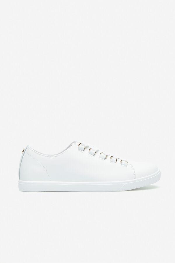 2096a9dd Cortefiel Sneaker piel anillas Blanco