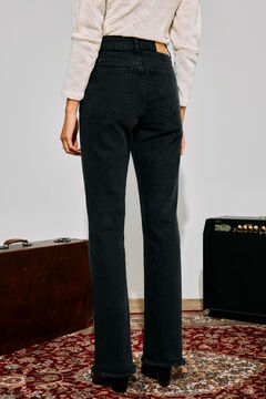 Cortefiel New flare fit jeans Black