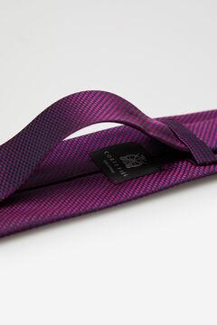 Cortefiel Micro jacquard tie Plum