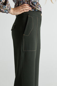 Cortefiel Straight trousers with stitching. Dark gray