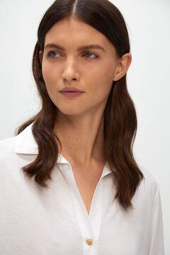 Cortefiel Piqué jersey-knit shirt White