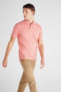 Cortefiel Essential short-sleeved polo shirt Plum