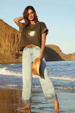 Cortefiel T-shirt oversize Preto