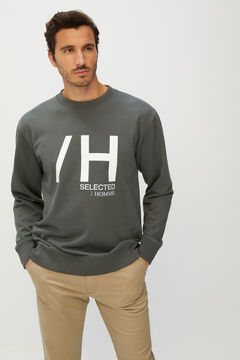 Cortefiel Men's logo sweatshirt Gray