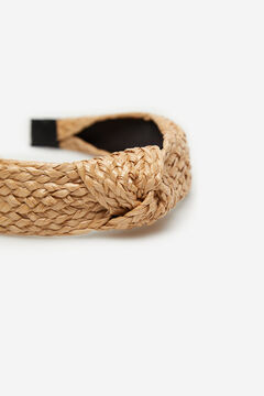 Cortefiel Raffia headband Brown
