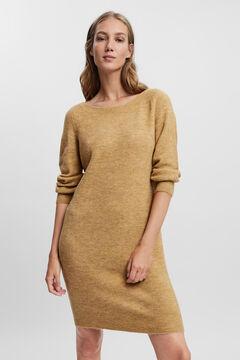Cortefiel Essential jersey-knit dress Tobaco