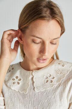 Cortefiel Camisola gola desmontável Beige