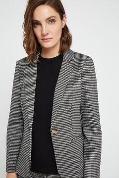 Cortefiel Jersey-knit blazer Natural