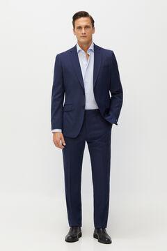 Cortefiel Birdseye tailored fit Coolmax® blazer Turquoise