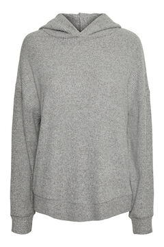 Cortefiel Ribbed sweatshirt Gray