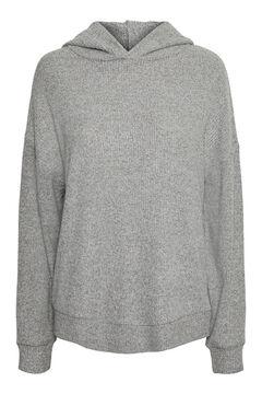 Cortefiel Sweatshirt canelada Cinzento