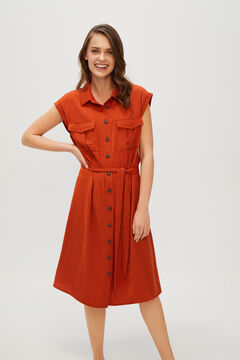 Cortefiel Short plain dress Red