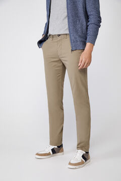 Cortefiel Essential slim fit lightweight chinos Pink
