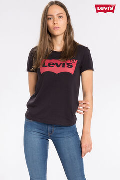 Cortefiel Short-sleeved Levi's® T-shirt with logo Black