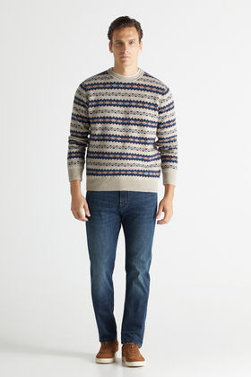 Cortefiel Regular dynamic double-dye dark wash jeans Turquoise