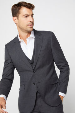 Cortefiel Grey slim fit blazer Gray