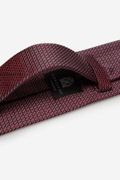 Cortefiel Textured weave tie Fuchsia
