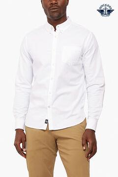 Cortefiel Camisa Dockers® Oxford slim fit no Supreme Flex™ Branco