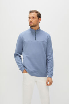 Cortefiel Turtleneck sweatshirt Light blue