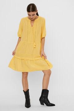 Cortefiel Vestido midi Amarillo