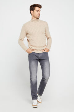 Cortefiel Grey regular fit jeans Gray