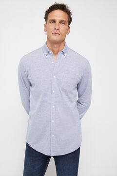 Cortefiel Long-sleeved shirt Navy