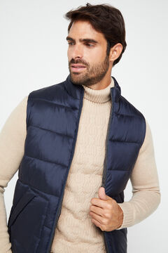 Cortefiel Reversible quilted gilet Navy