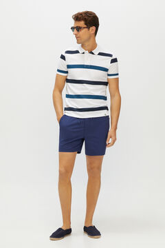 Cortefiel Stretchy Bermuda shorts in responsible fabric Navy