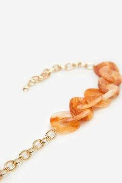Cortefiel Collar eslabones de resina Amarillo