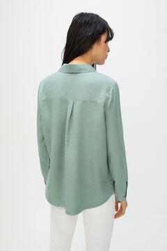 Cortefiel 100% Lyocell cargo shirt Khaki
