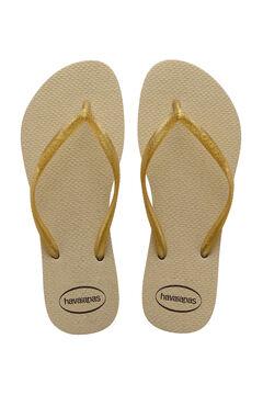Cortefiel SLIM GLOSS kids flip-flops Camel