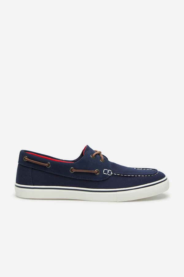 17a08b606 Cortefiel Sneaker náutica lona Azul