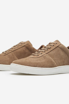 Cortefiel Leather rubber-soled sneakers Mole