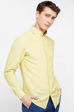 Cortefiel Tailored fit plain shirt Green