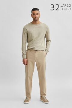 Cortefiel Slim fit trousers Stone