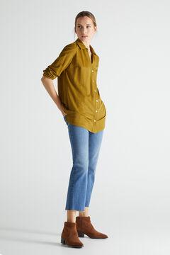 Cortefiel Comfort shirt Green