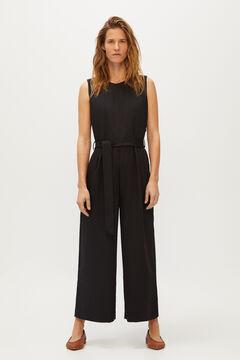 Cortefiel Open back jumpsuit Black
