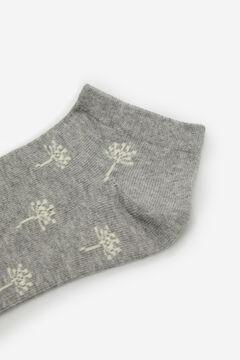 Cortefiel Dandelion print ankle socks Grey