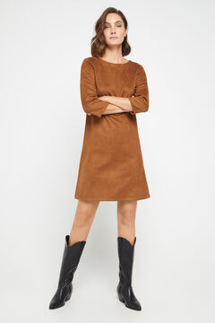 Cortefiel Yoke tunic dress Khaki