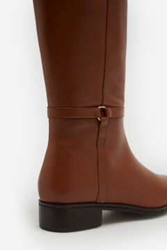 Cortefiel Leather riding style boots Camel