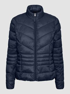 Cortefiel Ultralight quilted coat Navy
