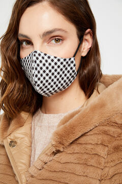 Cortefiel Gingham face mask Black