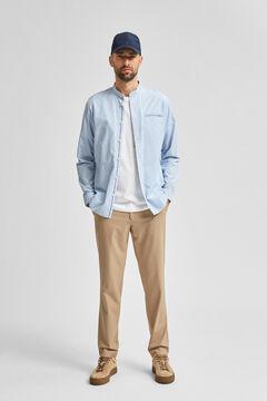 Cortefiel Camisa mao orgânica Azul