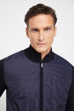 Cortefiel Zipped jacket Navy