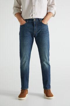 Cortefiel Regular dark wash jeans Bluejeans
