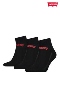 Cortefiel Pack de meias Levi's® médias unissexo com logo Preto